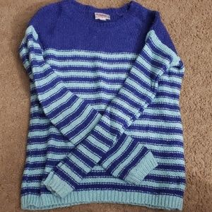 Girls striped justice sweater size 8